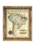 Mapa de América del Sur Pósters por Vision Studio