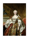 Elisabeth Farnese, Queen of Spain, Ca. 1739 Giclee Print by Louis-Michel van Loo