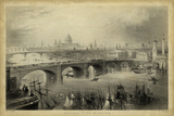 General View of London Art by William Henry Bartlett