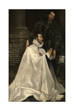 Julián Romero and His Patron Saint, 1612-1618 Giclee Print by  El Greco