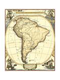 Náutica Mapa de América del Sur Posters por Vision Studio