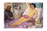 Nude Mestiza, 1923 Giclee Print by Juan Echevarria
