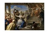 The Judgment of Solomon , 1694-1695 Lámina giclée por Luca Giordano
