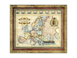 Map of Europe Prints by  Vision Studio