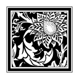 B&W Graphic Floral Motif II Prints by  Vision Studio
