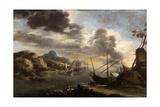 Seascape, 1638-1639 Giclée-tryk af Salvator Rosa
