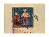 Cantigas De Santa Maria -Codice De Los Musicos, Rabel Y Laud Arabigo Giclee Print by  Alfonso X
