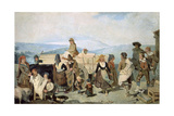 Sorian Peasants Dancing Giclee Print by Valeriano Becquer
