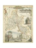 Map of Oxfordshire Sztuka