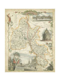 Map of Oxfordshire - Art Print