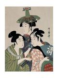 Tôjin, shishi, sumô, 1793 Gicléetryck av Kitagawa Utamaro