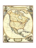 Nautical Map of North America Poster by  Vision Studio