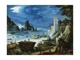 Puerto Con Castillo, Ca. 1601 Giclee Print by Paul Bril
