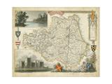 Map of Durham Plakat