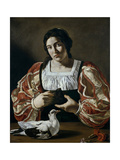 Woman with a Dove, Early 17th Century Giclee Print by  Cecco Del Caravaggio
