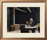 Automat Framed Giclee Print by Edward Hopper
