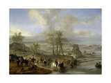 Hunting and Fishing Party, 1660-1662 Giclee Print by Philips Wouwerman