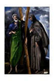 Saint Andrew and Saint Francis, Ca. 1595 Giclee Print by  El Greco