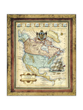 Map of North America Prints by  Vision Studio
