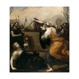 Duel of Two Women, 1636 Giclée-tryk af Jusepe de Ribera