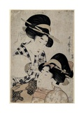 Dos Jóvenes Mujeres Con Abanico, 1790-1800 Giclee Print by Kitagawa Utamaro