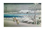 Paisaje Nevado, Grabado Japones Giclee Print by Ando Hiroshige