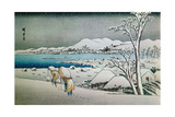 Paisaje Nevado, Grabado Japones Giclee Print by Utagawa Hiroshige