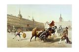 Corrida De Toros En La Plaza Mayor De Madrid Giclee Print by  Blanchard