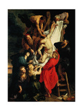 The Descent from the Cross. Central Panel, 1612-1614 Giclee Print by Peter Paul Rubens