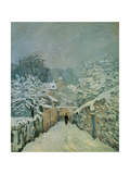 Snow in Louveciennes, 1878 Giclee Print by Alfred Sisley