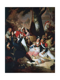 Dance of the Virgin of the Port Giclee Print by Manuel Rodriguez de guzman