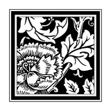 B&W Graphic Floral Motif III Premium Giclee Print by  Vision Studio