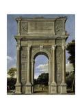 Triumphal Arch, 1607-1615 Giclée-tryk af  Domenichino