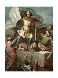 Count Berenguer III Raising the Standard of Barcelona on the Tower of Foix Castle, 1857 Giclee Print by Maria Fortuny