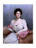 Portrait of a Woman, 1899 Giclee Print by Raimundo De madrazo