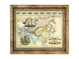 Map of Asia Print by  Vision Studio