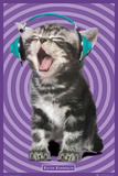 Keith Kimberlin - Kitten Headphones Poster