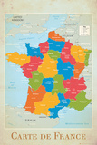 France map Affischer