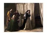 The Dementia of Juana of Castile, 1866 Giclée-Druck von Lorenzo Valles