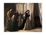 The Dementia of Juana of Castile, 1866 Giclee Print by Lorenzo Valles