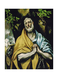 Saint Peter in Penitence, 1585-1590 Giclee Print by El Greco