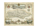 Map of Sussex Giclee Print