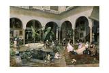 Familia En Un Patio De Sevilla Giclee Print by Luis Jimenez Aranda