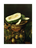 Bowl with Melon, Figs and Mushrooms, 1620 Giclee Print by Juan Fernandez el labrador