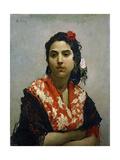 A Gypsy, 1872 Giclee Print by Raimundo De madrazo