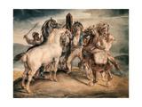 The Horse Market Giclee Print by Théodore Géricault