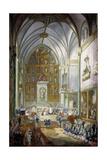 Fernando VII Is Sworn in as Prince of Asturias, 1791 Giclee Print by Luis Paret y Alcazar
