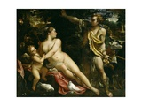 Venus, Adonis and Cupid, Ca. 1590 Giclée-tryk af Annibale Carracci
