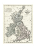 Mitchell's Karte von Great Britanien and Irland Kunstdrucke