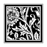 B&W Graphic Floral Motif IV Prints by  Vision Studio